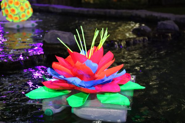 Photo of neon floating flower