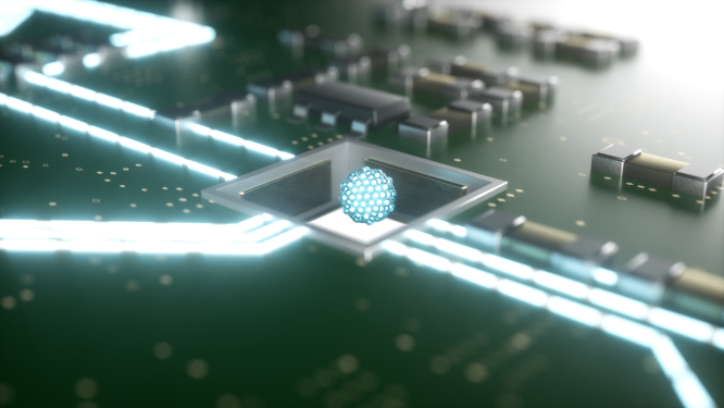 Quantum circuits with a levitated heart